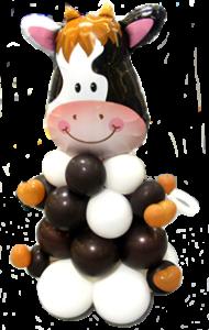 Einschulungsfeier mit moderner Dekoration Ballondeko-Kuh